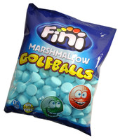 Fini Marshmallow Golfballs - Blue, by Fini,  and more Confectionery at The Professors Online Lolly Shop. (Image Number :6351)