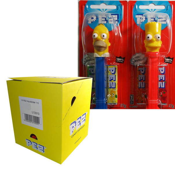 Pez Candy Dispensers - The Simpsons, by Pez,  and more Confectionery at The Professors Online Lolly Shop. (Image Number :6476)