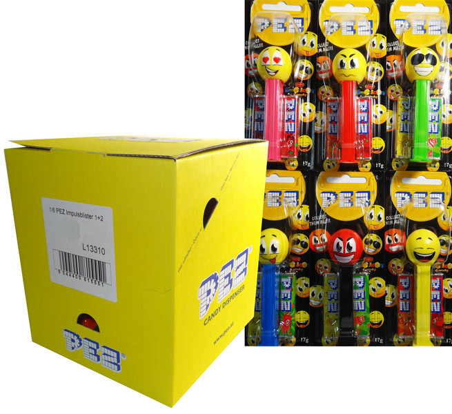 Pez Candy Dispensers - Emoticons, by Pez,  and more Confectionery at The Professors Online Lolly Shop. (Image Number :6470)