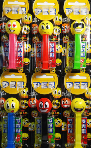 Pez Candy Dispensers - Emoticons, by Pez,  and more Confectionery at The Professors Online Lolly Shop. (Image Number :6471)