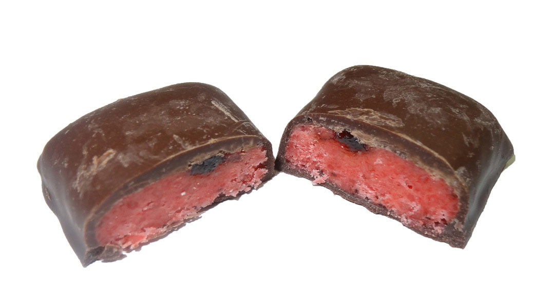 Dark Choc Cherry Bites, by Colonial Confectionery,  and more Confectionery at The Professors Online Lolly Shop. (Image Number :9743)