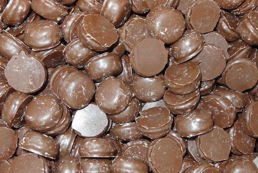 Dark Choc Peppermint Creams, by Colonial Confectionery,  and more Confectionery at The Professors Online Lolly Shop. (Image Number :6610)