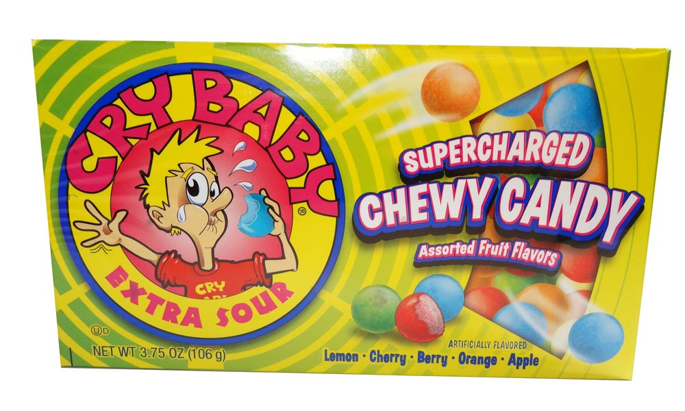 Cry Baby Extra Sour Bubble Gum - Theatre Box, by Dubble Bubble,  and more Confectionery at The Professors Online Lolly Shop. (Image Number :6484)