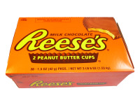 SUPER SPECIAL Reeses 2 Peanut Butter Cups, by Reeses,  and more Confectionery at The Professors Online Lolly Shop. (Image Number :6458)