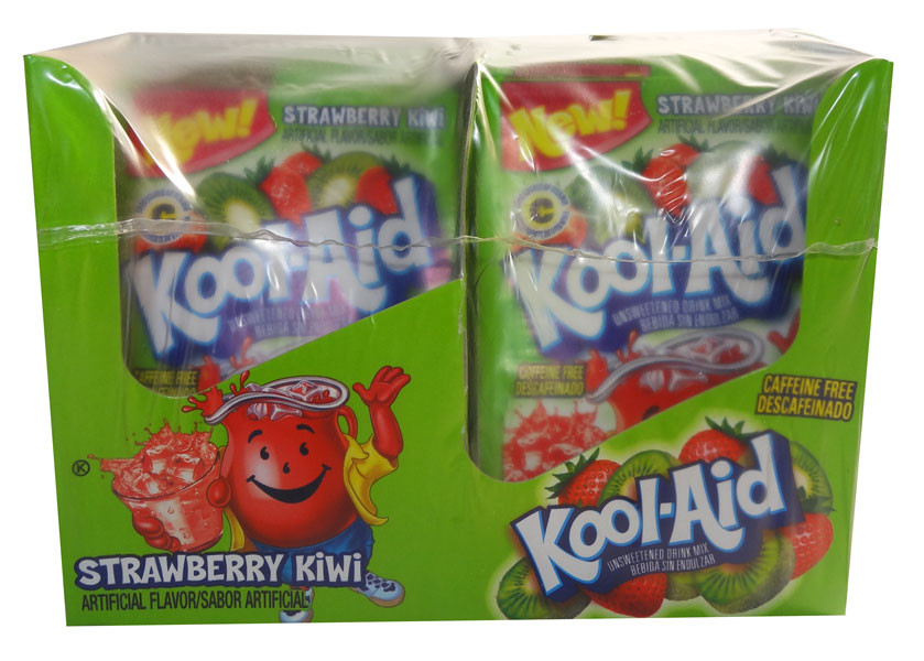 Kool Aid Pack  - Kiwi Strawberry, by Kool Aid,  and more Beverages at The Professors Online Lolly Shop. (Image Number :6668)
