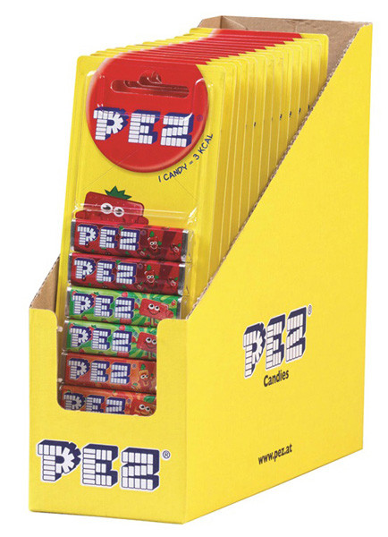 Pez Refills - Fruit Blister, by Pez,  and more Confectionery at The Professors Online Lolly Shop. (Image Number :6962)