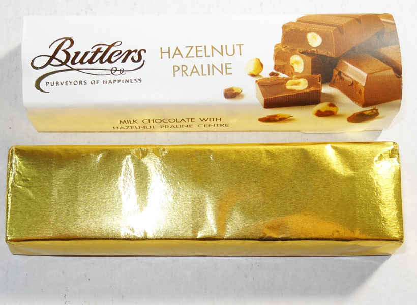 Butlers Hazelnut Praline Bar, by Butlers Chocolates,  and more Confectionery at The Professors Online Lolly Shop. (Image Number :6661)