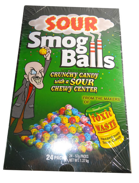 Sour Smog Balls, by Candy Brokers,  and more Confectionery at The Professors Online Lolly Shop. (Image Number :6664)