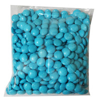 Choc Drops - Light Blue Single Colour Smarties clones, by Confectionery House,  and more Confectionery at The Professors Online Lolly Shop. (Image Number :8297)