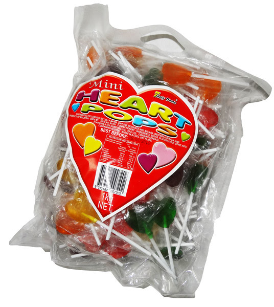 Tasty Treats Mini Heart Pops, by Tasty Treats,  and more Confectionery at The Professors Online Lolly Shop. (Image Number :6949)