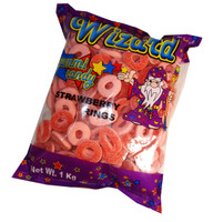 Wizard Strawberry Rings, by Wizard,  and more Confectionery at The Professors Online Lolly Shop. (Image Number :6883)