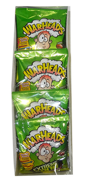 Warheads Extreme Sour Candy Hang Sell Bags, by Warheads,  and more Confectionery at The Professors Online Lolly Shop. (Image Number :9784)