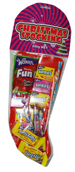 Wonka Christmas Stocking, by Wonka,  and more Confectionery at The Professors Online Lolly Shop. (Image Number :6735)