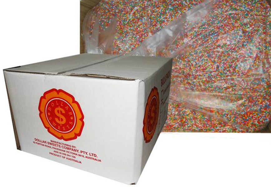 Dollar Sweets 100 s and 1000 s - NonPareils, by Dollar Sweets,  and more Confectionery at The Professors Online Lolly Shop. (Image Number :7267)