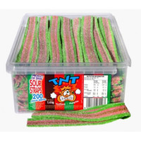 TNT Sour Straps Toffee Apple, by TNT,  and more Confectionery at The Professors Online Lolly Shop. (Image Number :8905)