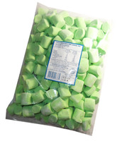 Large Green Marshmallows, by AllFect Distributors/Marshies,  and more Confectionery at The Professors Online Lolly Shop. (Image Number :6809)