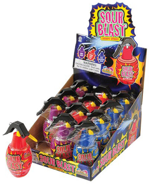 Sour Blast Candy Spray, by Kidsmania,  and more Confectionery at The Professors Online Lolly Shop. (Image Number :6976)