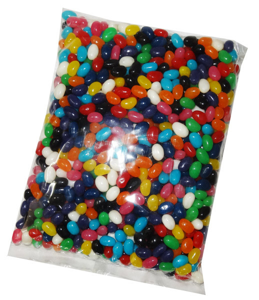 Mini Jelly Beans - Assorted Colours with Mixed Flavours, by Budget Sweets,  and more Confectionery at The Professors Online Lolly Shop. (Image Number :6922)