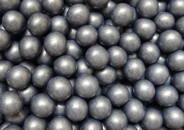 Shimmer Choc Balls - Gun Silver, by Confectionery House,  and more Confectionery at The Professors Online Lolly Shop. (Image Number :10187)