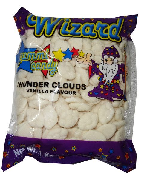 Wizard Thunder Clouds - White Vanilla, by Wizard,  and more Confectionery at The Professors Online Lolly Shop. (Image Number :6907)