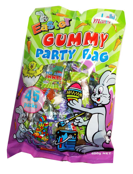 Easter Gummy Party Bag, by Lolly Mania,  and more Confectionery at The Professors Online Lolly Shop. (Image Number :6998)
