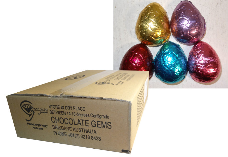 Chocolate Gems - Chocolate Half Eggs, by Chocolate Gems,  and more Confectionery at The Professors Online Lolly Shop. (Image Number :7081)