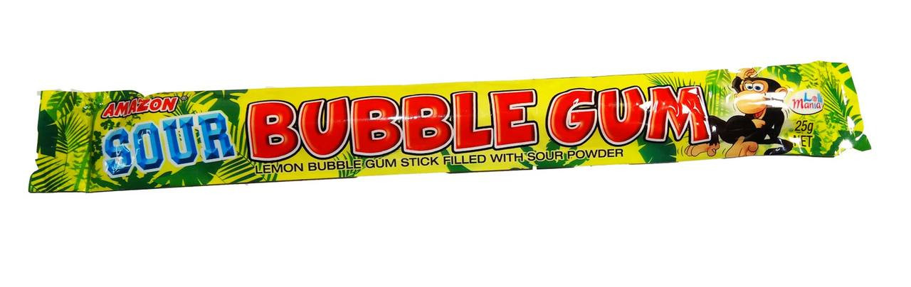 Amazon Sour Bubble Gum Sticks - Lemon and more Confectionery at The Professors Online Lolly Shop. (Image Number :7016)