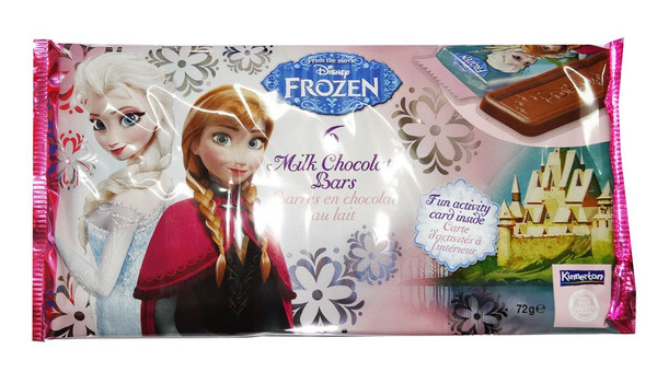 Disney Frozen Milk Chocolate Bars, by Kinnerton,  and more Confectionery at The Professors Online Lolly Shop. (Image Number :7018)