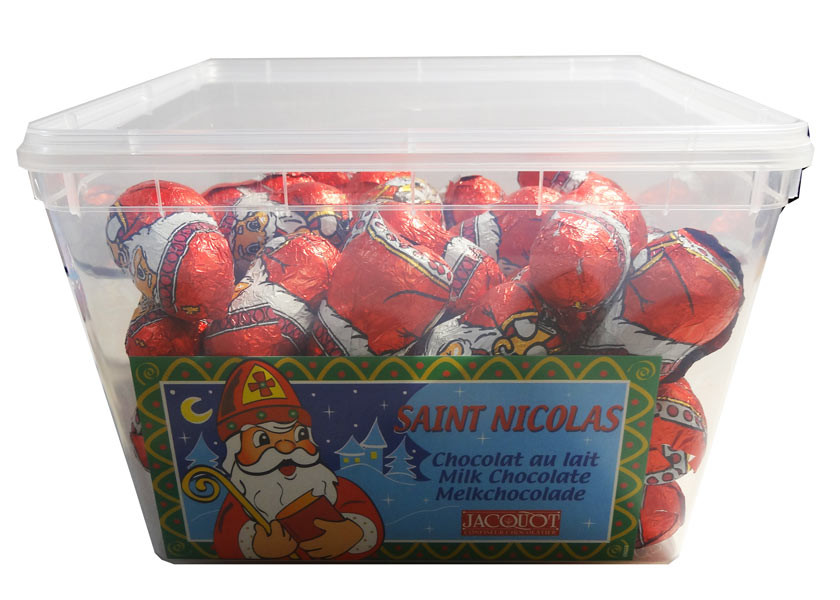 Saint Nicolas Milk Chocolate, by Jacquot,  and more Confectionery at The Professors Online Lolly Shop. (Image Number :8015)