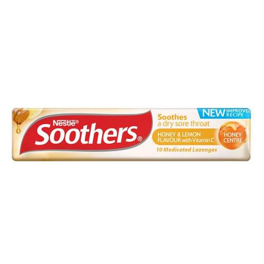 Nestle Soothers - Honey & Lemon lozenges, by Allens Confectionery,  and more Confectionery at The Professors Online Lolly Shop. (Image Number :14669)
