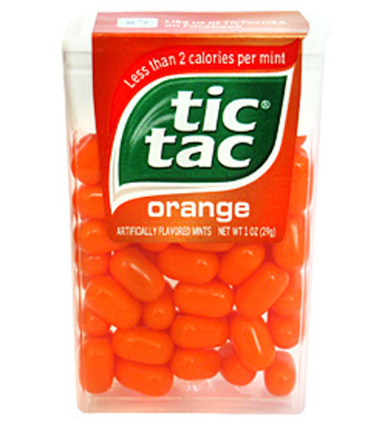 Tic Tac - Orange, by Ferrero,  and more Confectionery at The Professors Online Lolly Shop. (Image Number :7047)