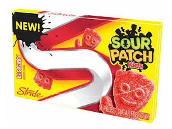 Sour Patch Gum - Raspberry, by Stride,  and more Confectionery at The Professors Online Lolly Shop. (Image Number :7062)