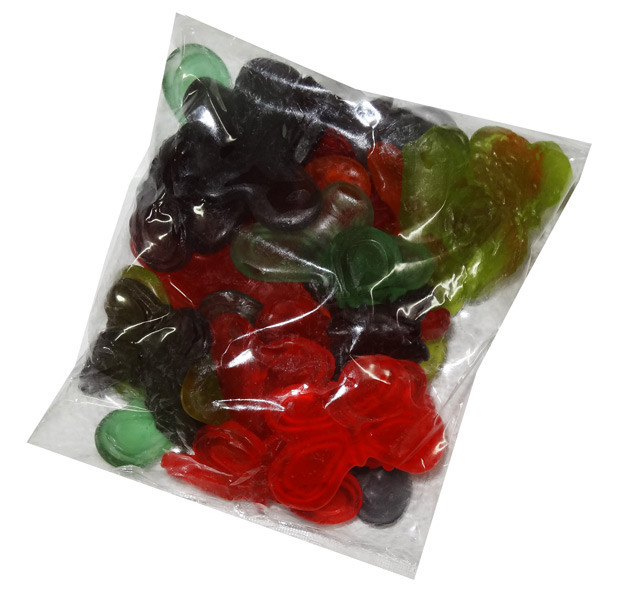 Gummi Large Butterflies, by Albanese Confectionery/Other,  and more Confectionery at The Professors Online Lolly Shop. (Image Number :7296)