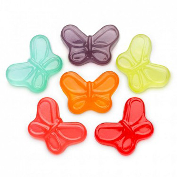 Gummi Small Butterflies, by Albanese Confectionery/Other,  and more Confectionery at The Professors Online Lolly Shop. (Image Number :7295)