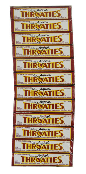 Nestle Throaties, by Allens Confectionery/Nestle,  and more Confectionery at The Professors Online Lolly Shop. (Image Number :9292)