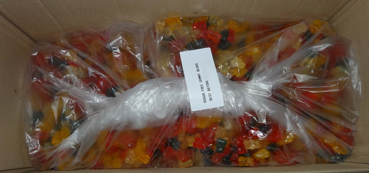 Sugar Free Gummy Bears, by Double D Confectionery,  and more Confectionery at The Professors Online Lolly Shop. (Image Number :7220)