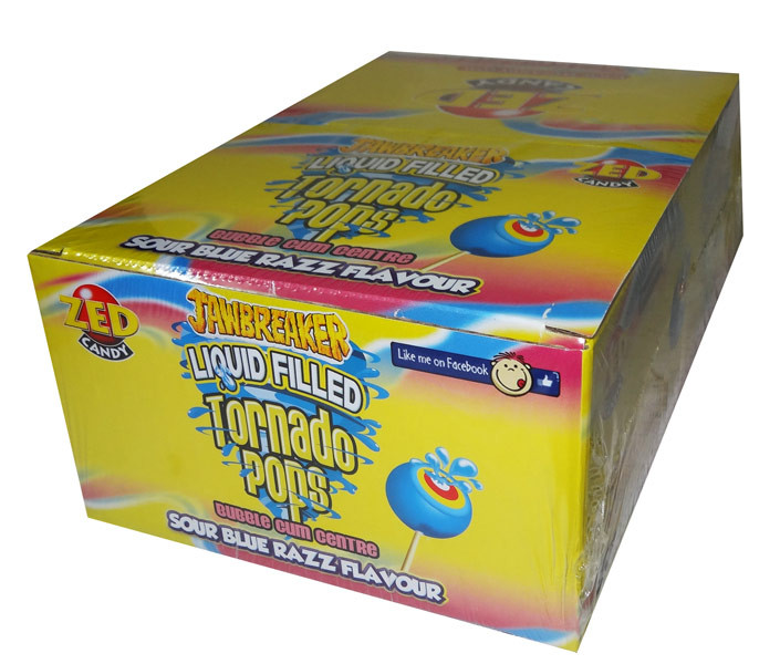 Jawbreaker Liquid Filled Tornado Pops, by Confectionery Trading Company,  and more Confectionery at The Professors Online Lolly Shop. (Image Number :7225)