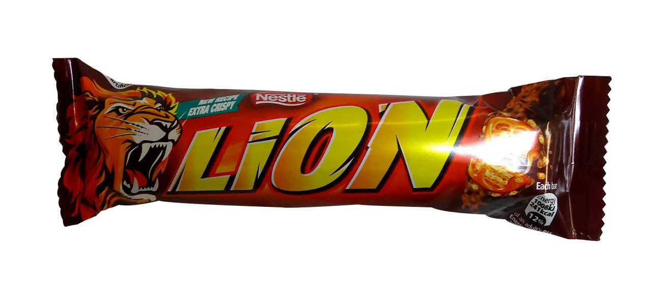 Lion Bars, by Nestle,  and more Confectionery at The Professors Online Lolly Shop. (Image Number :10172)