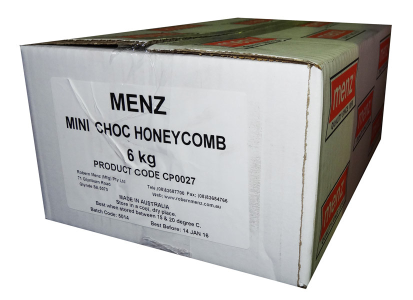 Mini Choc Honeycomb, by Robern Menz,  and more Confectionery at The Professors Online Lolly Shop. (Image Number :7236)