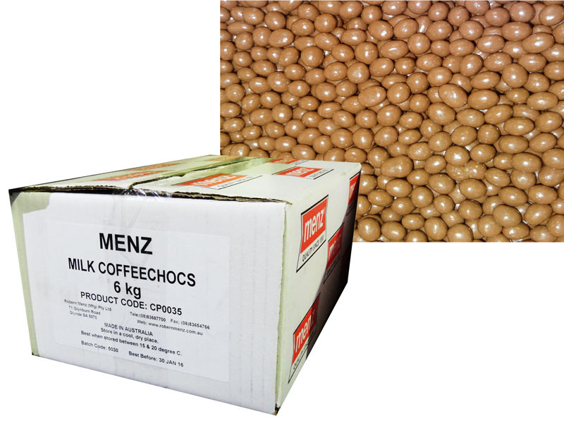 Milk Chocolate Coffee Beans, by Robern Menz,  and more Confectionery at The Professors Online Lolly Shop. (Image Number :7228)