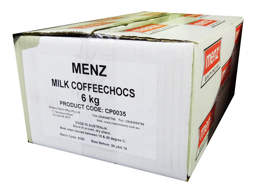 Milk Chocolate Coffee Beans, by Robern Menz,  and more Confectionery at The Professors Online Lolly Shop. (Image Number :7230)