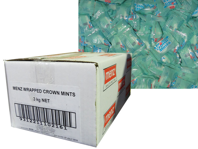 Crown Mints - Wrapped, by Robern Menz,  and more Confectionery at The Professors Online Lolly Shop. (Image Number :7231)