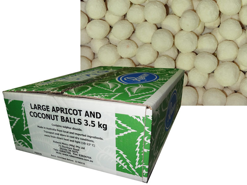 Apricot Balls - Large, by Robern Menz,  and more Snack Foods at The Professors Online Lolly Shop. (Image Number :7240)