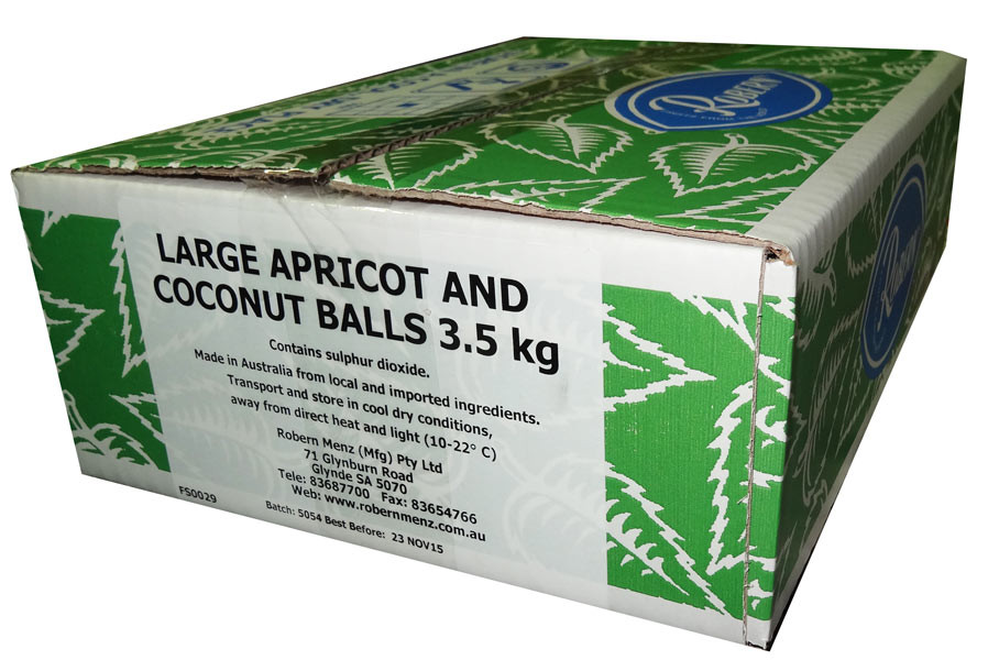 Apricot Balls - Large, by Robern Menz,  and more Snack Foods at The Professors Online Lolly Shop. (Image Number :7241)