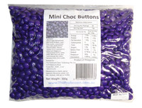 Mini Choc Buttons - Purple, by Brisbane Bulk Supplies,  and more Confectionery at The Professors Online Lolly Shop. (Image Number :7338)