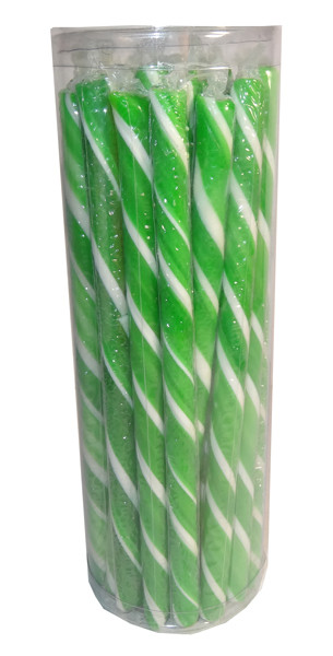 Candy Poles Jar - Green, by Brisbane Bulk Supplies,  and more Confectionery at The Professors Online Lolly Shop. (Image Number :7327)