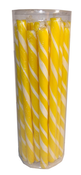Candy Poles Jar - Yellow, by Brisbane Bulk Supplies,  and more Confectionery at The Professors Online Lolly Shop. (Image Number :7319)