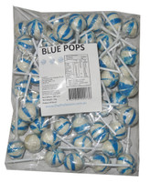 Ball Pops - Blue, by Brisbane Bulk Supplies,  and more Confectionery at The Professors Online Lolly Shop. (Image Number :7357)