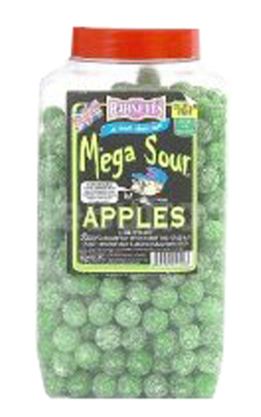 Barnetts Mega Sour Candy - Apple Flavour, by Barnetts,  and more Confectionery at The Professors Online Lolly Shop. (Image Number :7277)