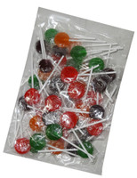 Mixed Small Coloured Flat Pops, by Candy Brokers,  and more Confectionery at The Professors Online Lolly Shop. (Image Number :7404)